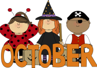 October clipart monthly. November free download page