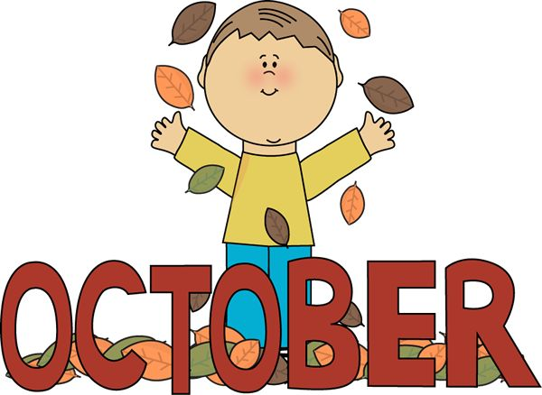 October clipart monthly. Best month clip art
