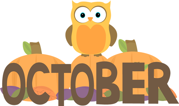 October clipart monthly. Month of
