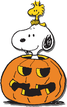 october clipart snoopy