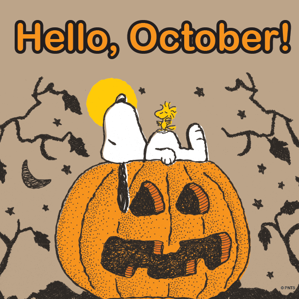 October clipart snoopy. Hello isms pinterest charlie