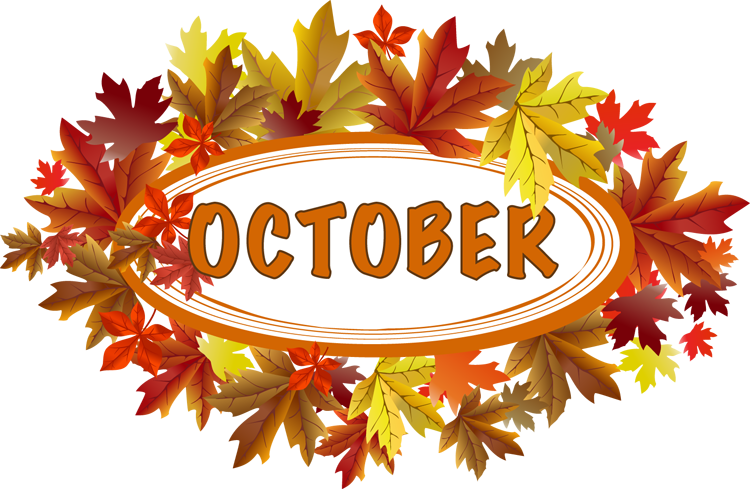 October clipart transparent. Library calendar rr collections