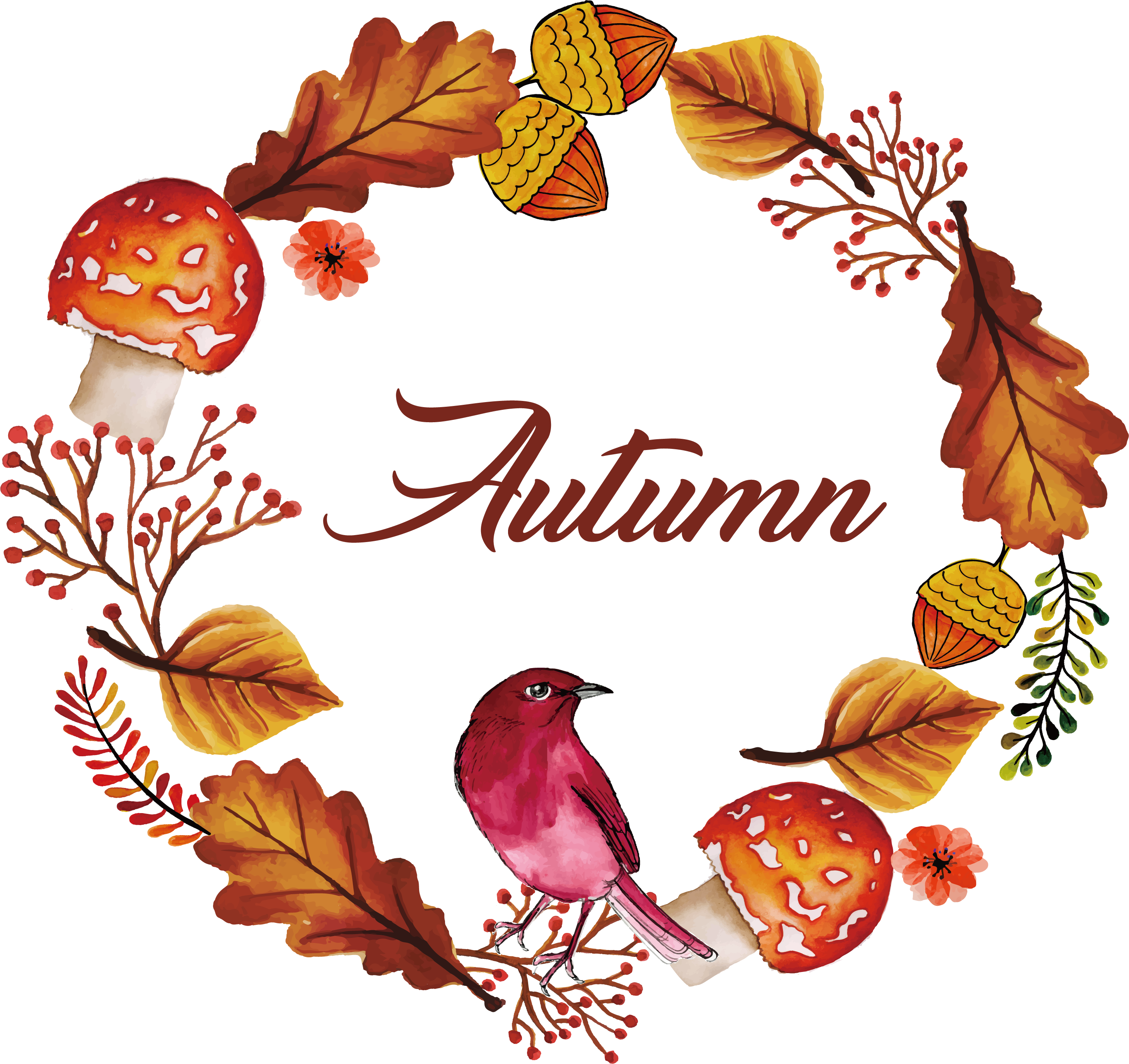 October clipart watercolor. Pin by alma on