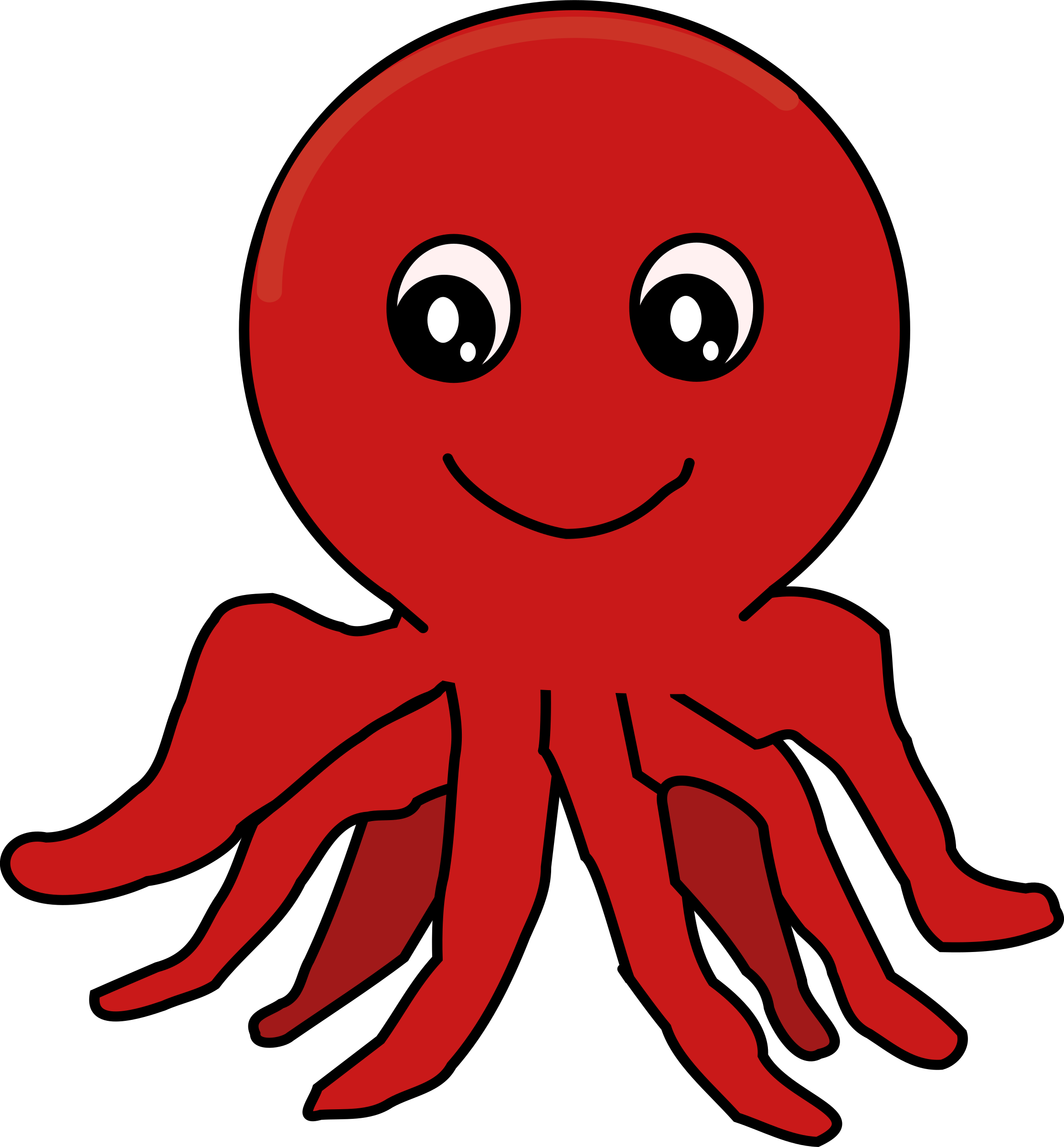 Octopus cartoon png. Red icons free and