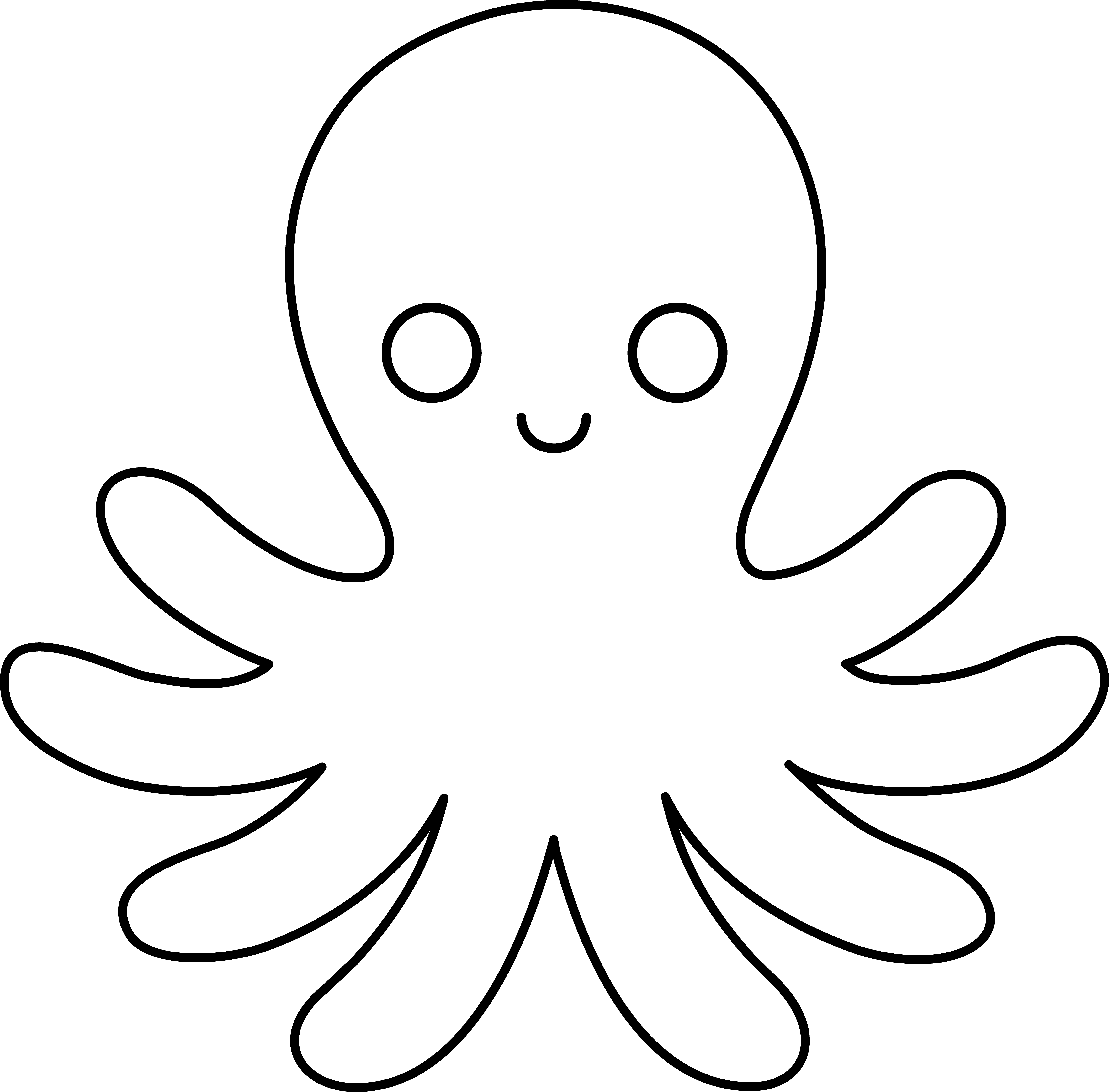 Octopus clipart mimic octopus. Black and white panda