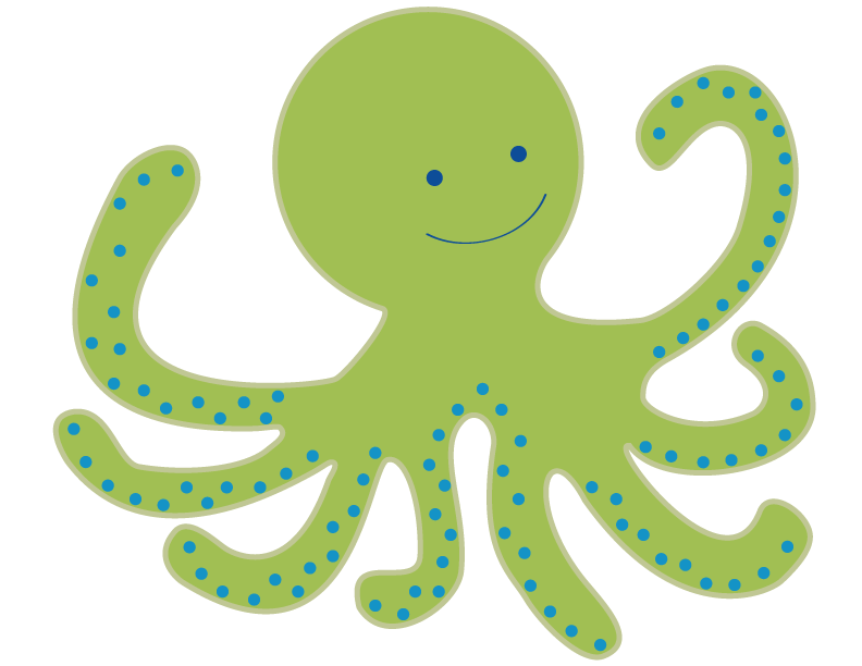 Octopus clipart. Baby clip art free