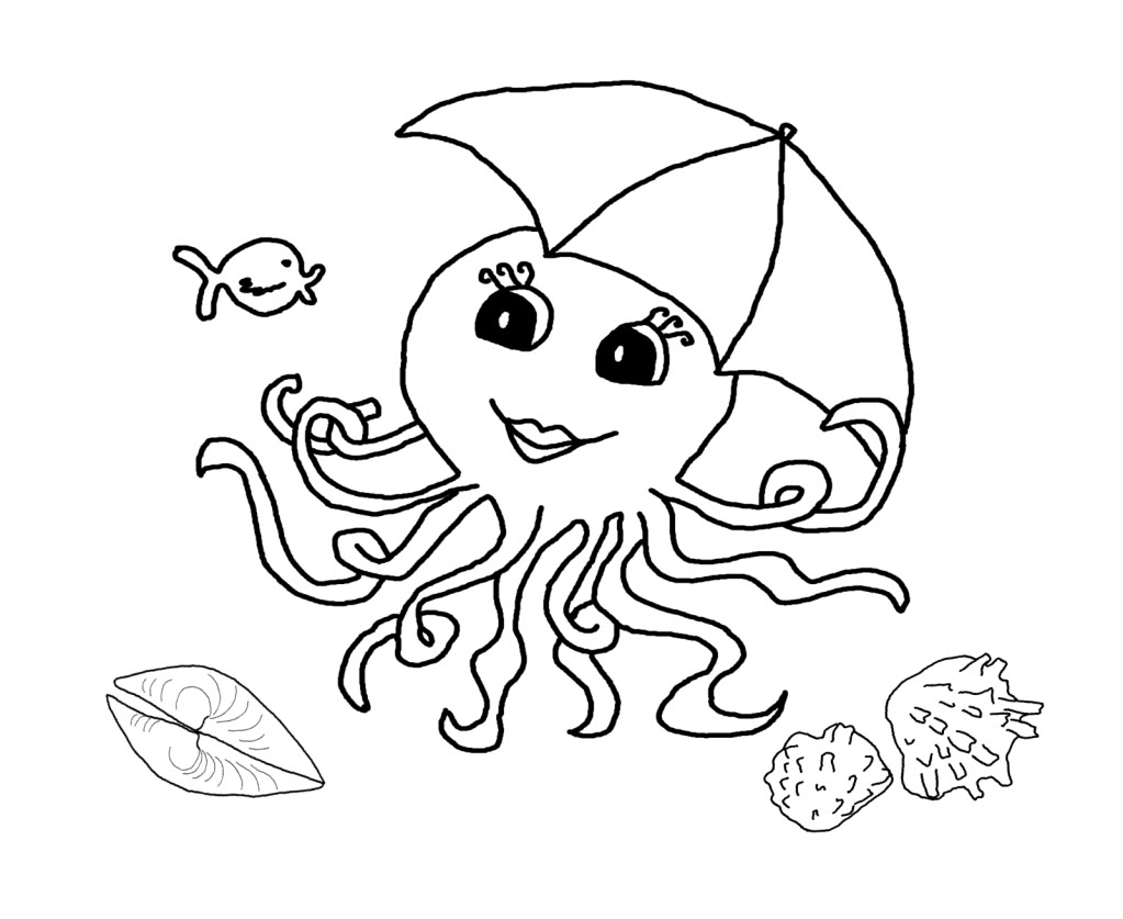 Octopus Coloring Pages For Kids - Coloring Home | 837x1023