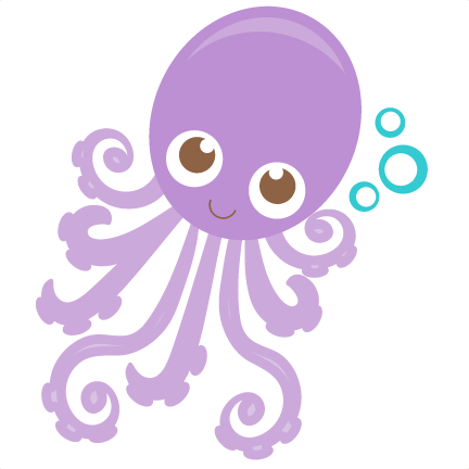 Octopus clipart svg. Scrapbook cut file cute