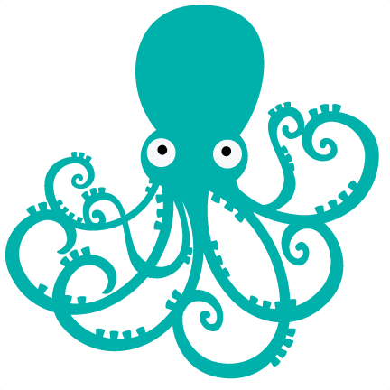 Octopus clipart svg. File for scrapbooking cut