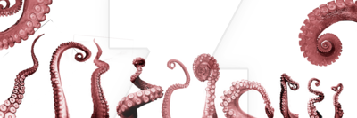 Octopus tentacles png. Tentacle pack by juciely