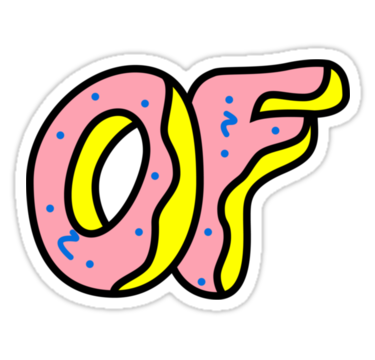 Odd future logo png. Donut by centeredgravity stickers
