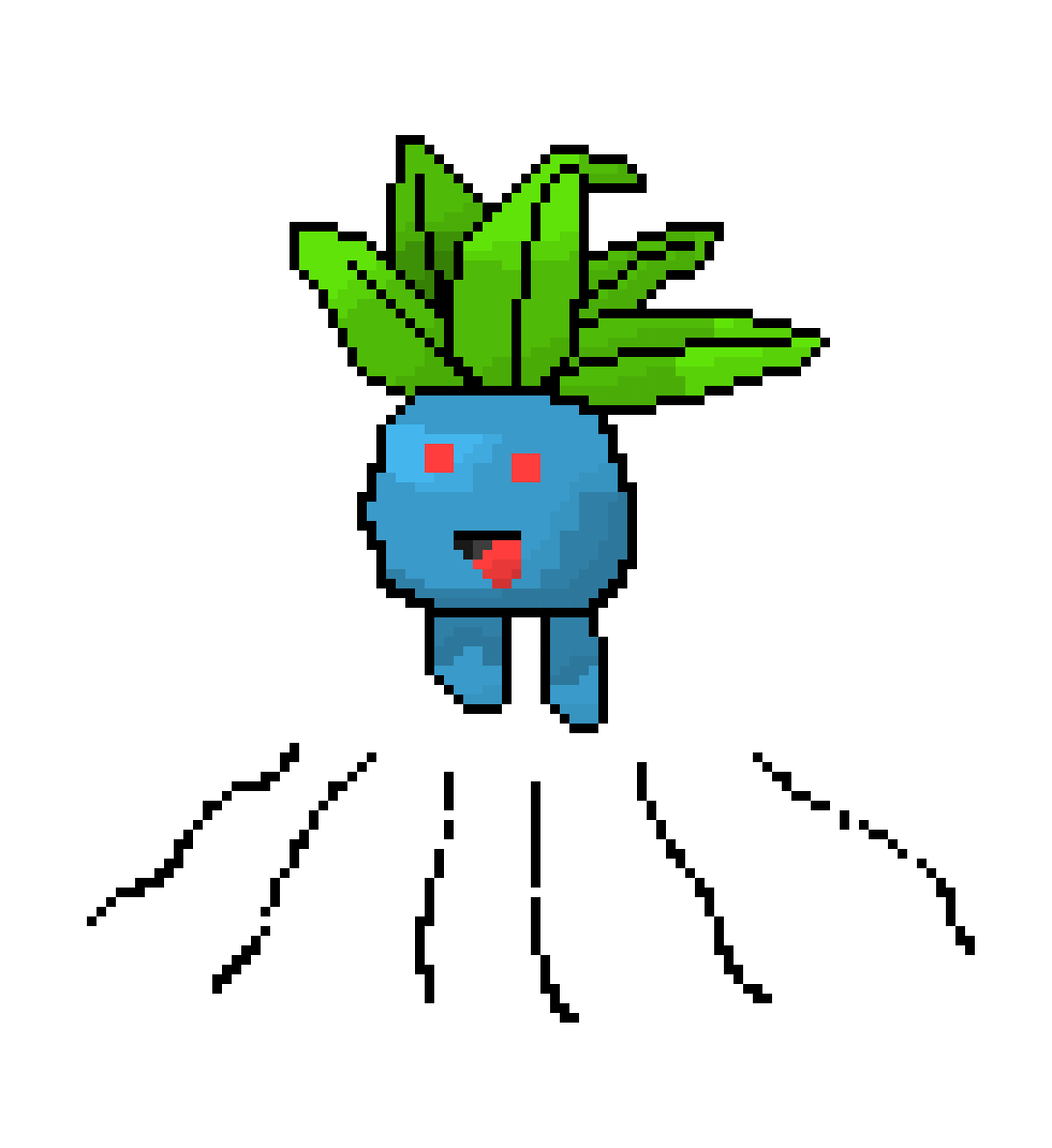 Oddish transparent leaf. Pixel art maker