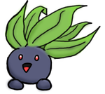 Oddish transparent background. Cute lil d by