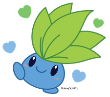 Oddish transparent kawaii. Chibi by daieny pokemon