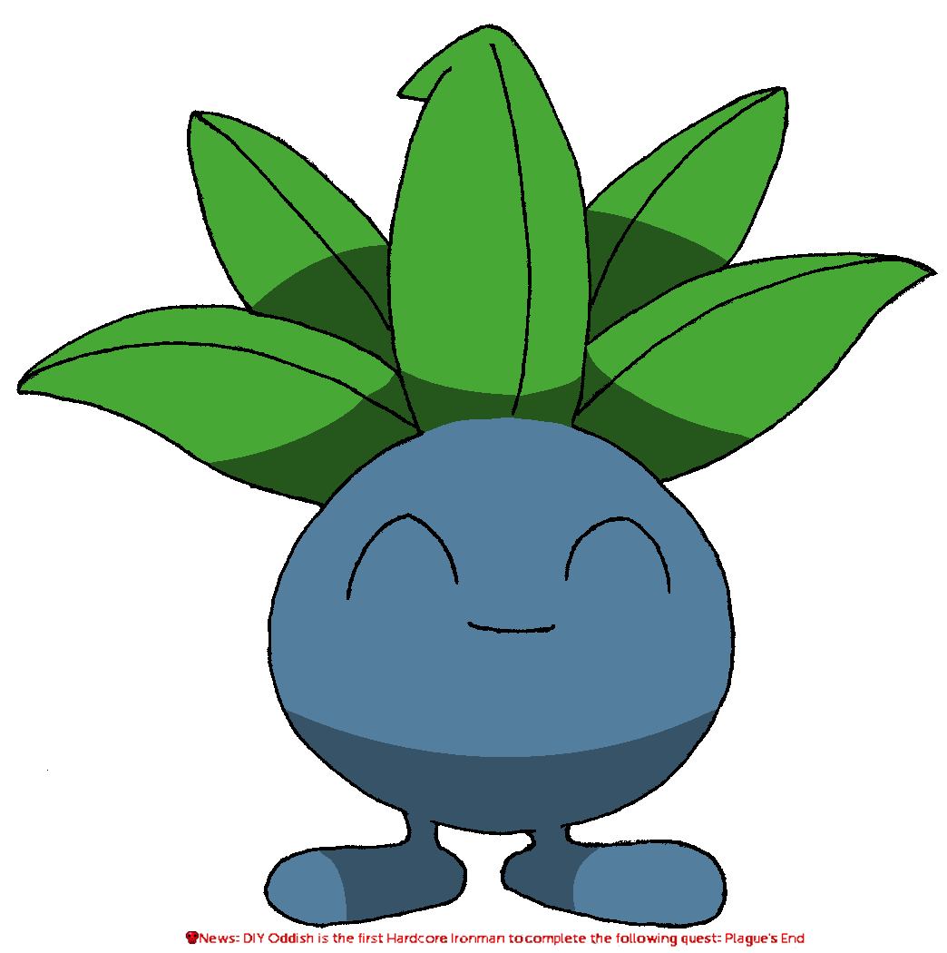 Oddish transparent leaf. Leaked picture of diy