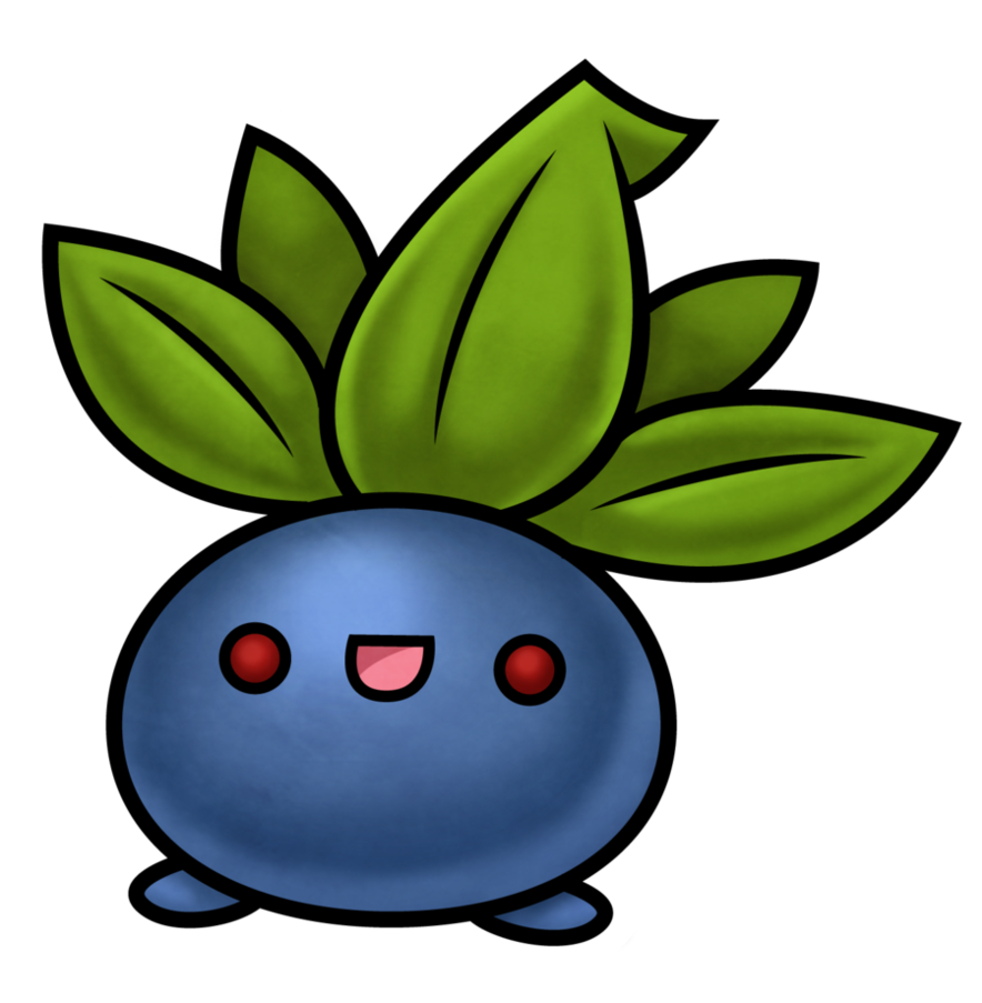 Oddish transparent shaped. Pokemon by beyx on