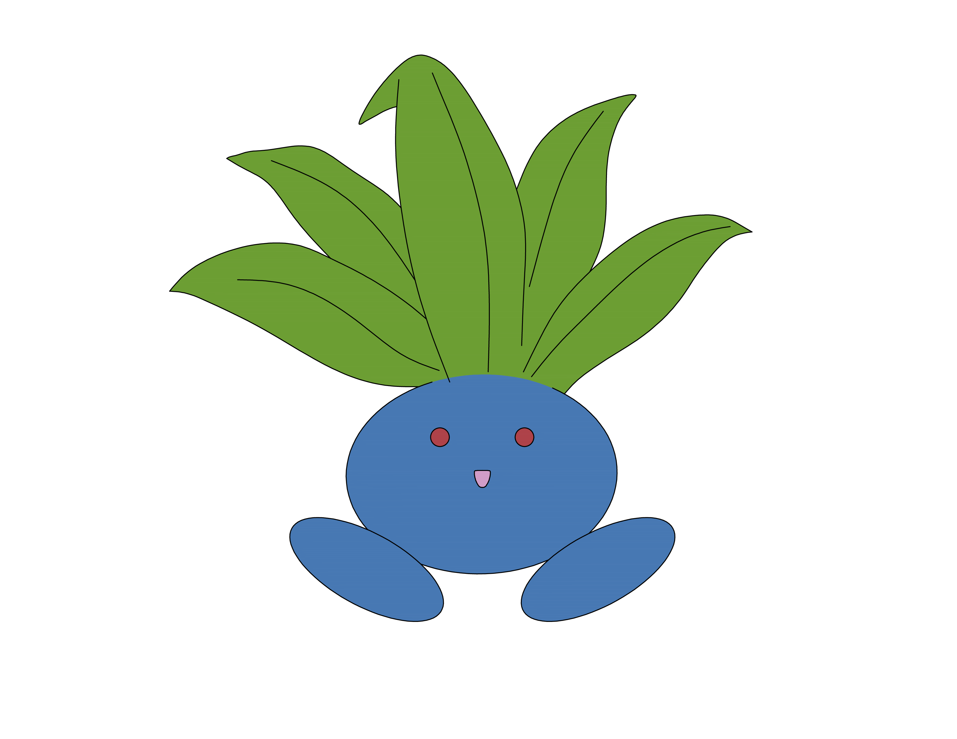 oddish transparent blueberry