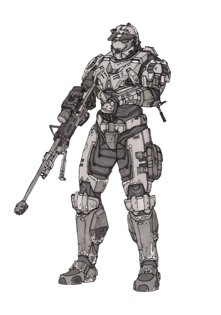 Odst drawing sad. Commission deathrebel spartan shaded