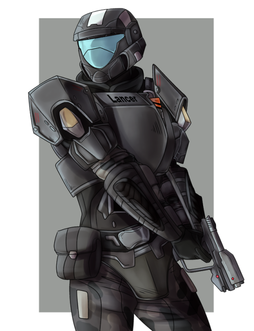 Odst drawing female. Armor tumblr commission for