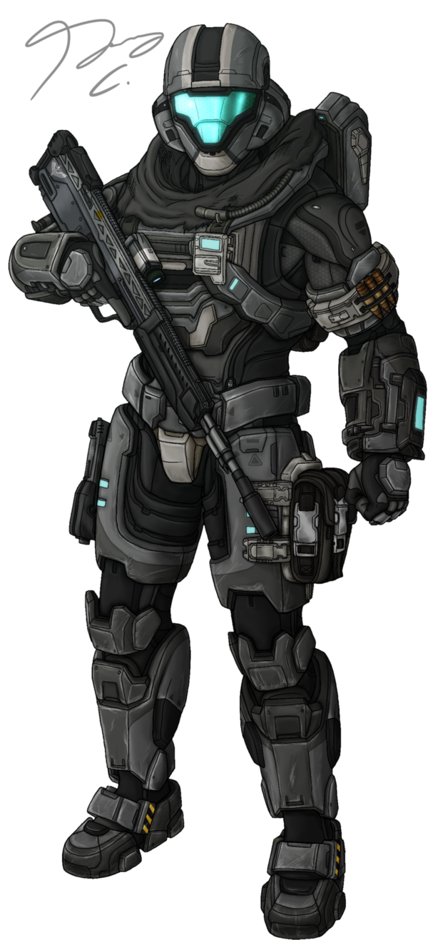 Odst drawing helljumper. Commission spartan aura by