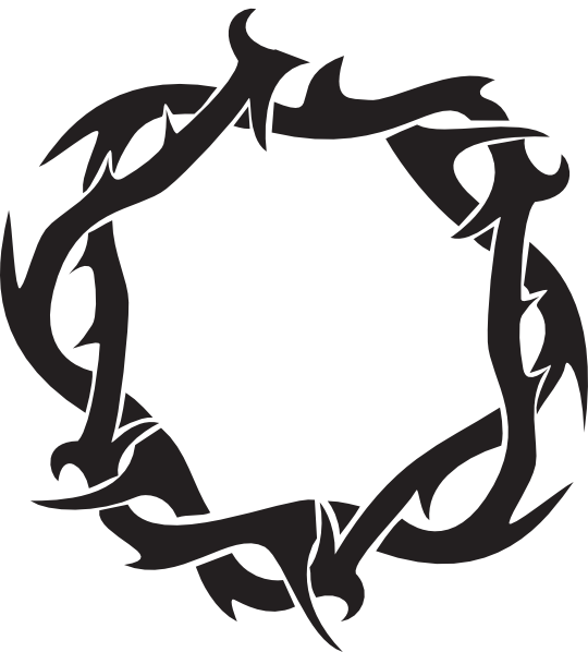 Christian vector crown thorns. Of clip art at