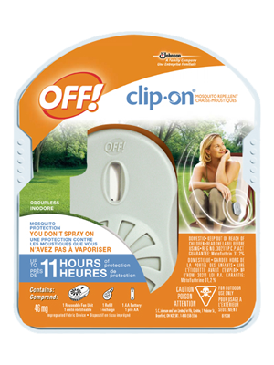 Off clip insect repellant. On repellent brands