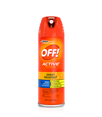 Off clip spray. Active insect repellent i