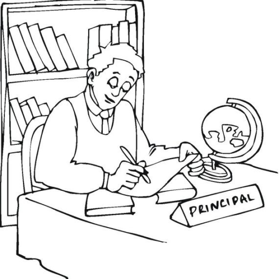 Office clipart principal's office. Principal s black and