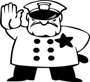 Police clipart cute. Officer black and white