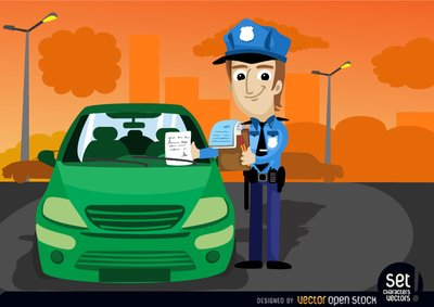 Officer clipart fined. Free traffic fine a