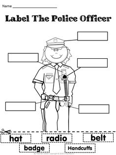 Officer clipart preschool. Police printable pack free