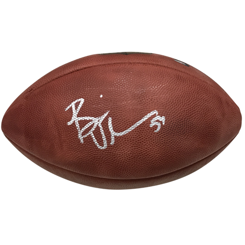 Official nfl football png. Brian urlacher autographed game