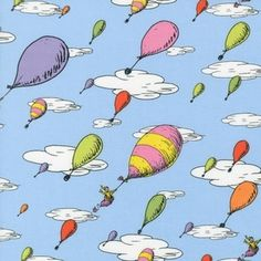 Oh the places ll clipart air balloon. Free printable dr seuss
