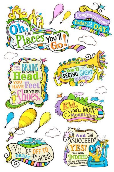Oh the places ll clipart youll. Eureka dr seuss you