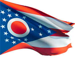 Vector ohio statehood. State flag png image