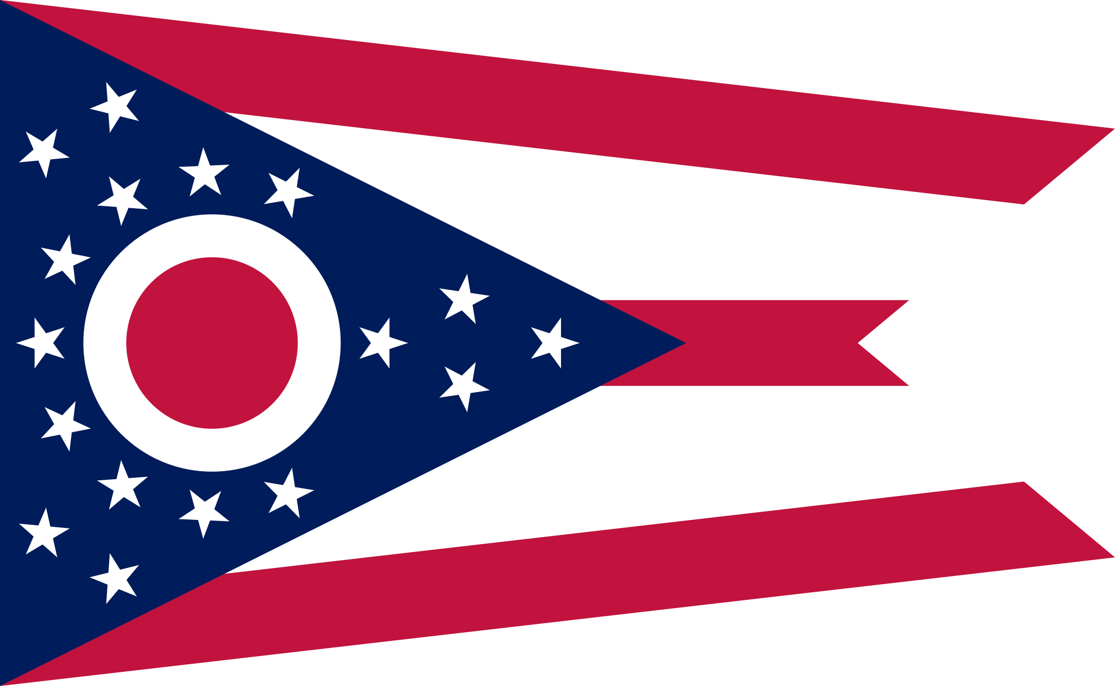 Ohio state flag png. Svg vector freebie supply
