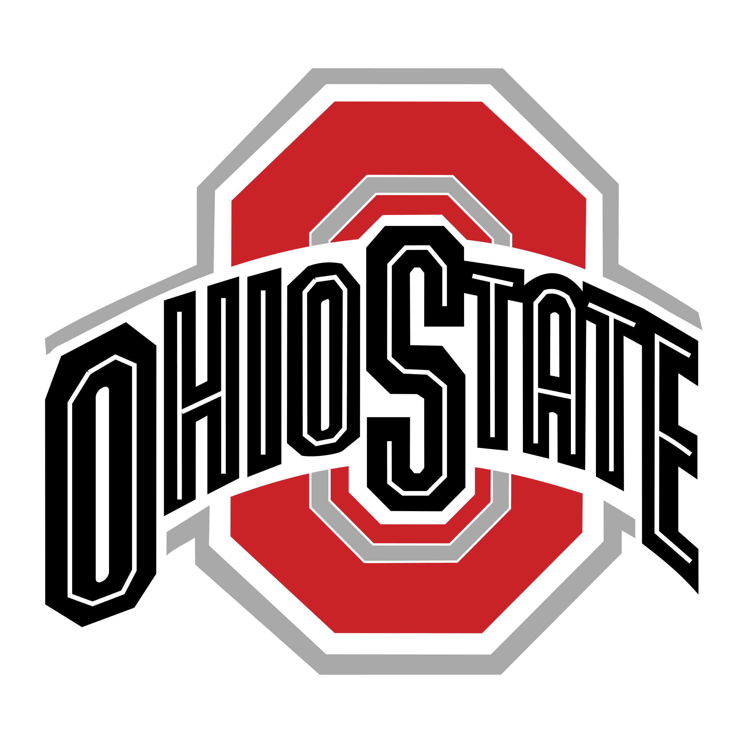 Vector ohio red. State buckeyes logo png