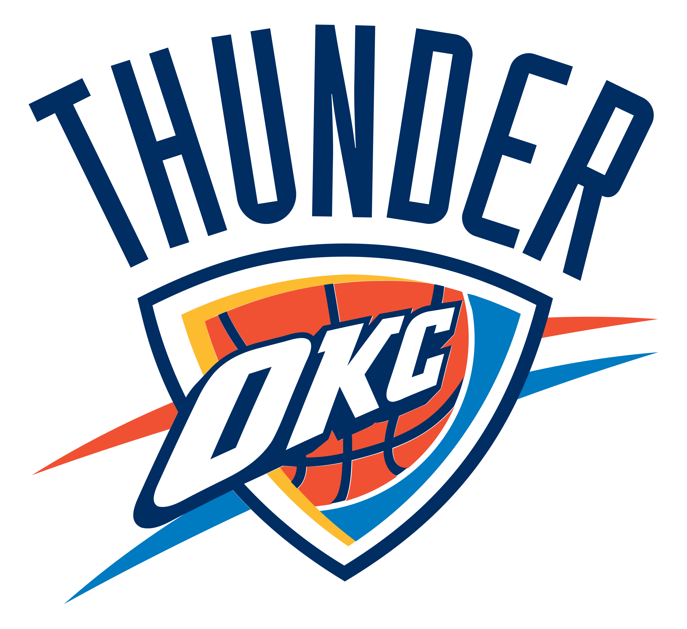 Oklahoma city thunder logo png. Transparent svg vector freebie