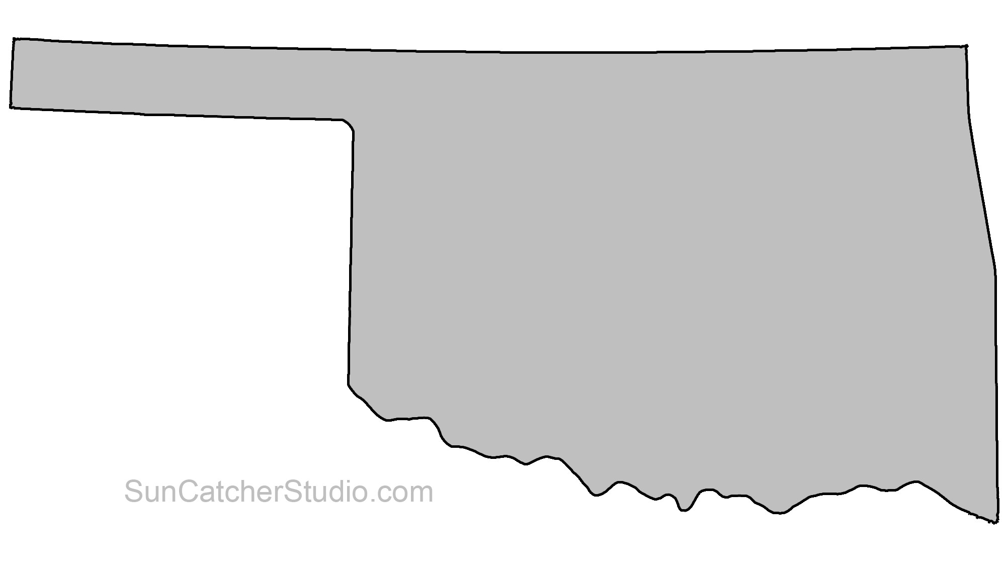 oklahoma vector outline