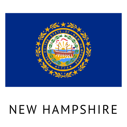 Oklahoma vector flag. New hampshire state transparent