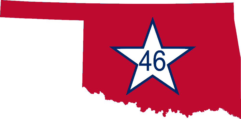 Oklahoma vector map. File flag of png