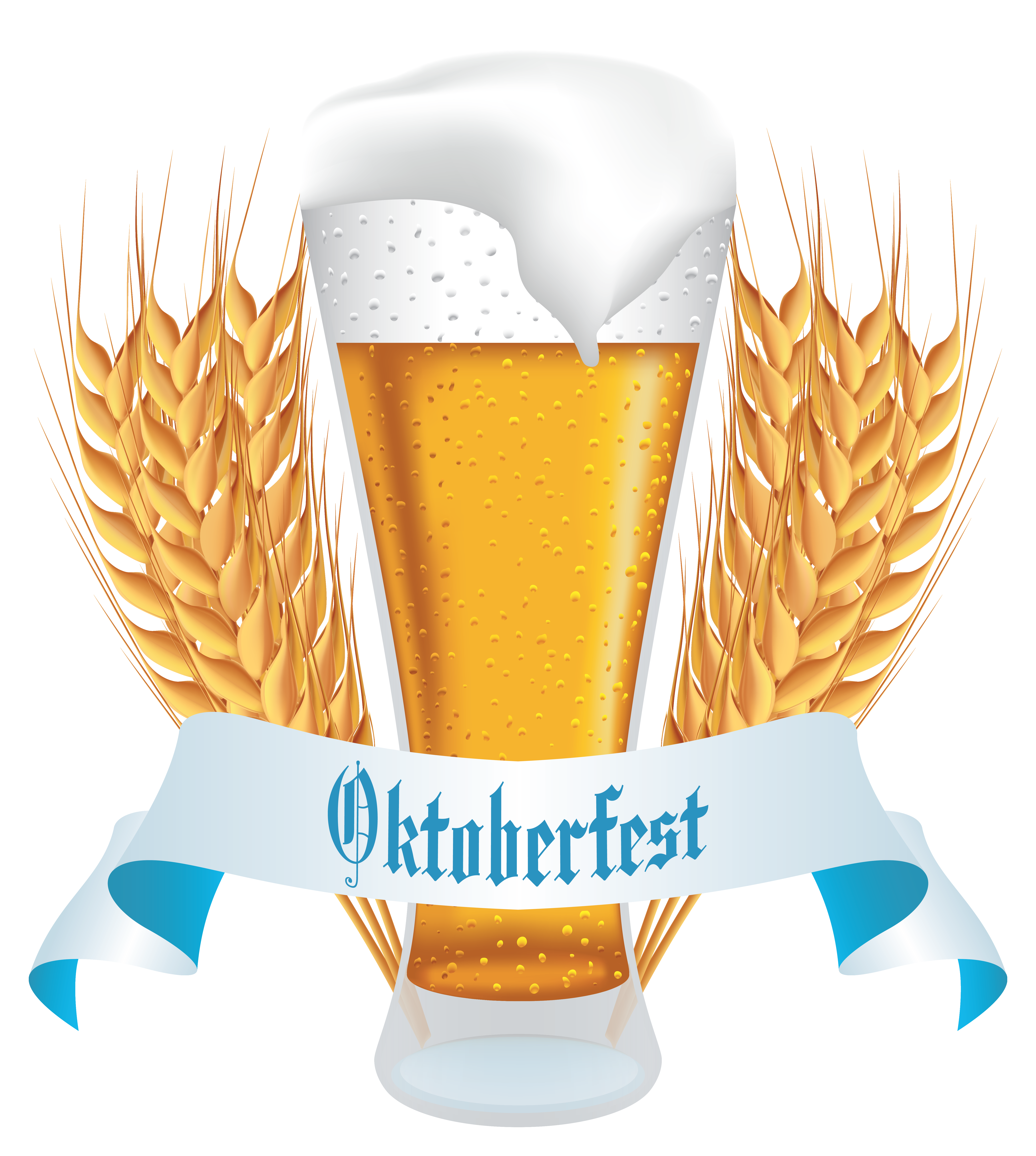 Vector wheat banner. Oktoberfest beer with png