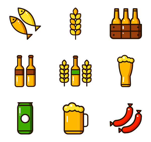 Oktoberfest vector page. Icon packs svg