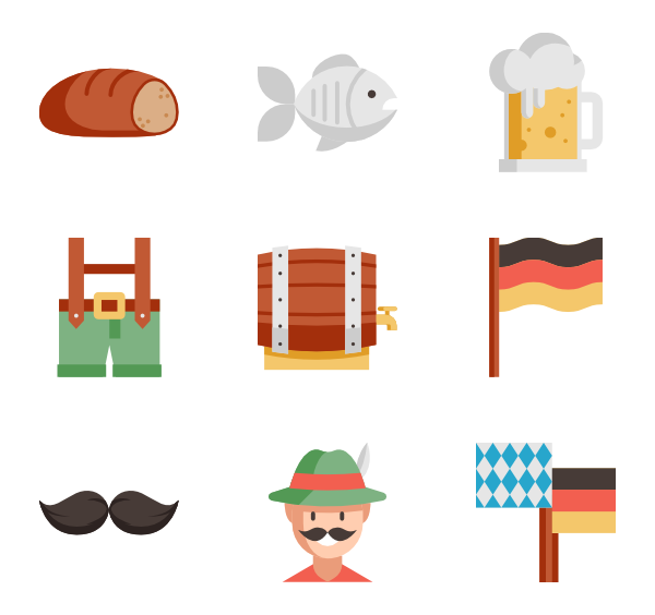 Oktoberfest vector page. Icons free