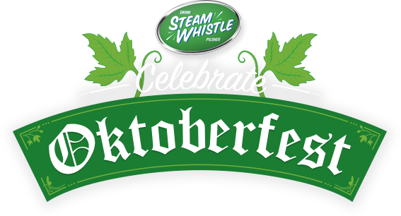 Oktoberfest vector page. Steam whistle celebrates brewing