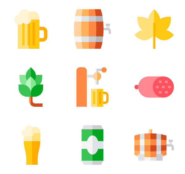 Oktoberfest vector page. Icon packs for