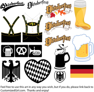 Oktoberfest vector svg. Clipart free use multi