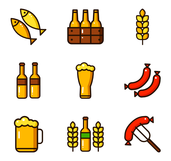 Typography vector beer. Icon packs svg