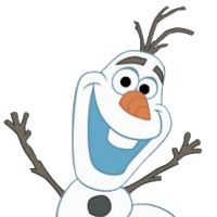 Olaf clipart head. Pencil and in color
