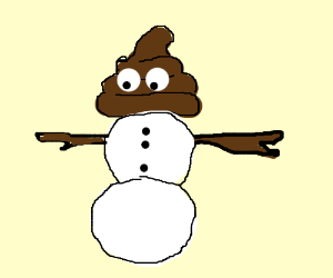 Olaf clipart snowman poop. Made out of in